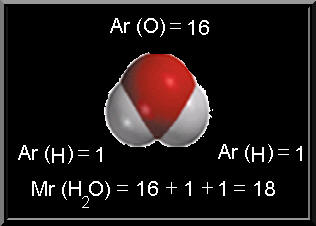 Santykine molekuline mase formule